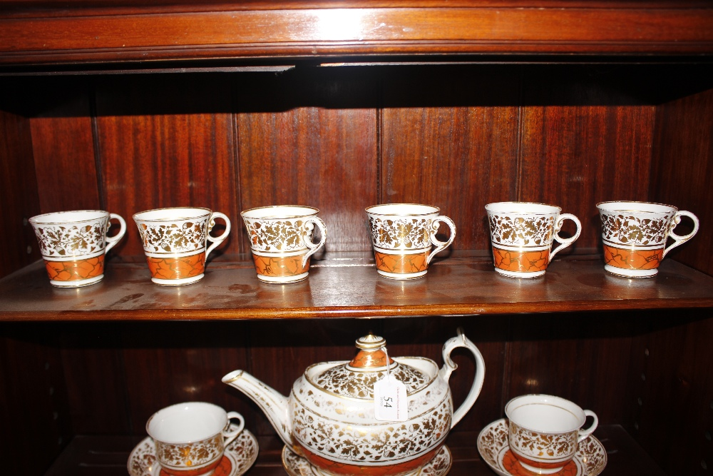 A Chamberlains Worcester part tea service,circa 1810, comprising teapot, tea and coffee cups and - Image 5 of 6