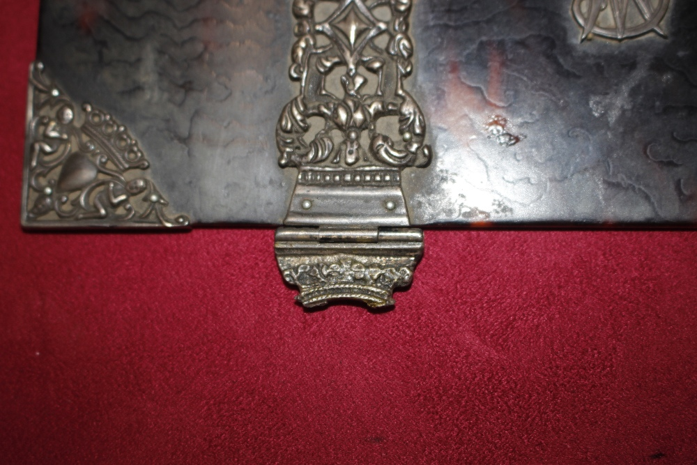 A 19th Century tortoiseshell and white metal mounted trinket casket,having pierced foliate and - Image 18 of 19