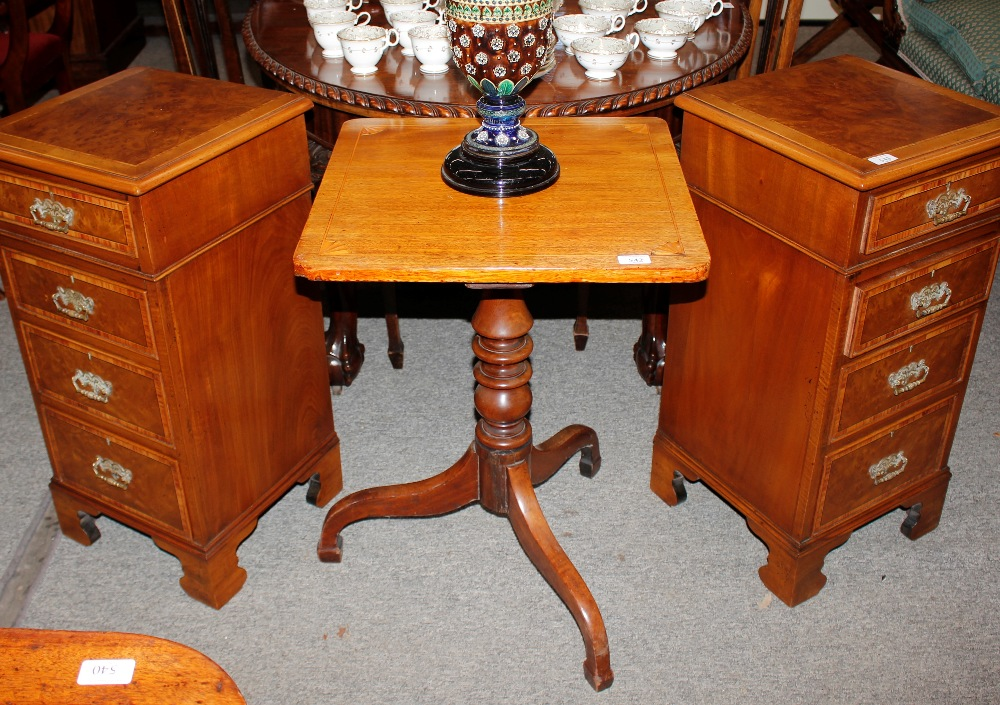 A 19th Century mahogany and satinwood inlaid occasional table,having central fan paterae raised on