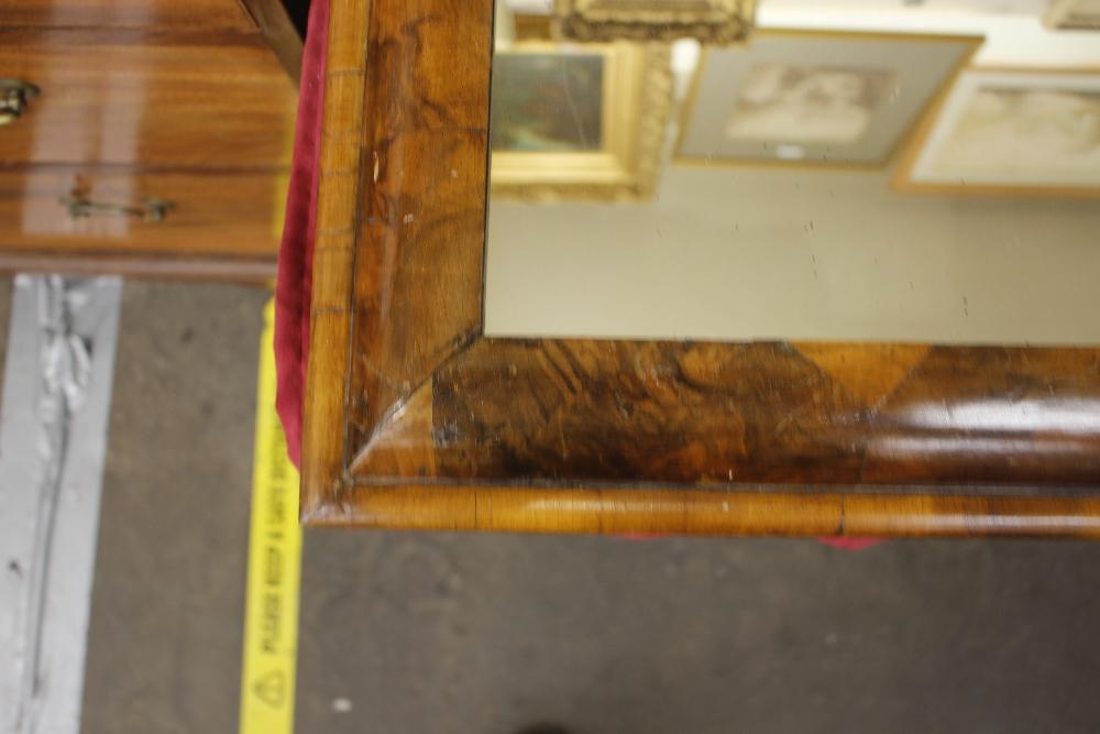 An antiquewalnut cushion framed wall mirror,55cm x 51cm - Image 5 of 9