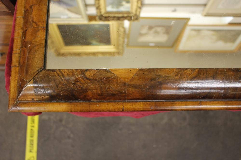 An antiquewalnut cushion framed wall mirror,55cm x 51cm - Image 4 of 9