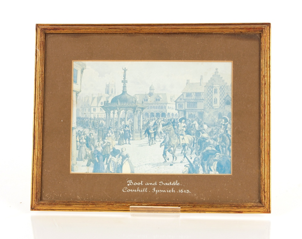 """A collection of Ipswich prints,to include after Fred Russell, """"The Ancient House"""", three small - Image 7 of 8"""