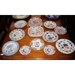 Various Victorian ironstone and stone chinaplates and dishes,(24)
