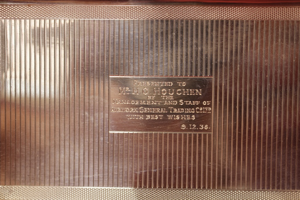 """A silver cigarette case, with inscription to """"Mr H - Image 7 of 7"""