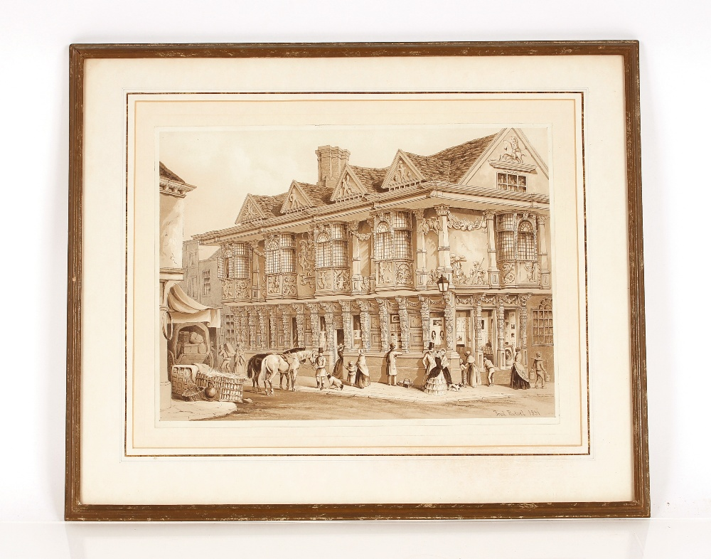 """A collection of Ipswich prints,to include after Fred Russell, """"The Ancient House"""", three small"""