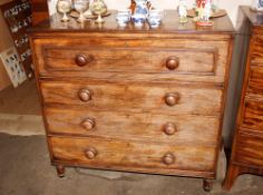 A 19th Century mahogany and cross banded secretairechest,the writing drawer with interior