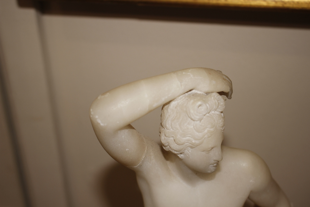 A pair of 19th Century alabaster figures,depicting athletes, 35cm high - Image 12 of 18