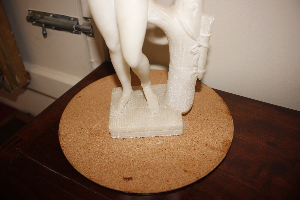 A pair of 19th Century alabaster figures,depicting athletes, 35cm high - Image 17 of 18