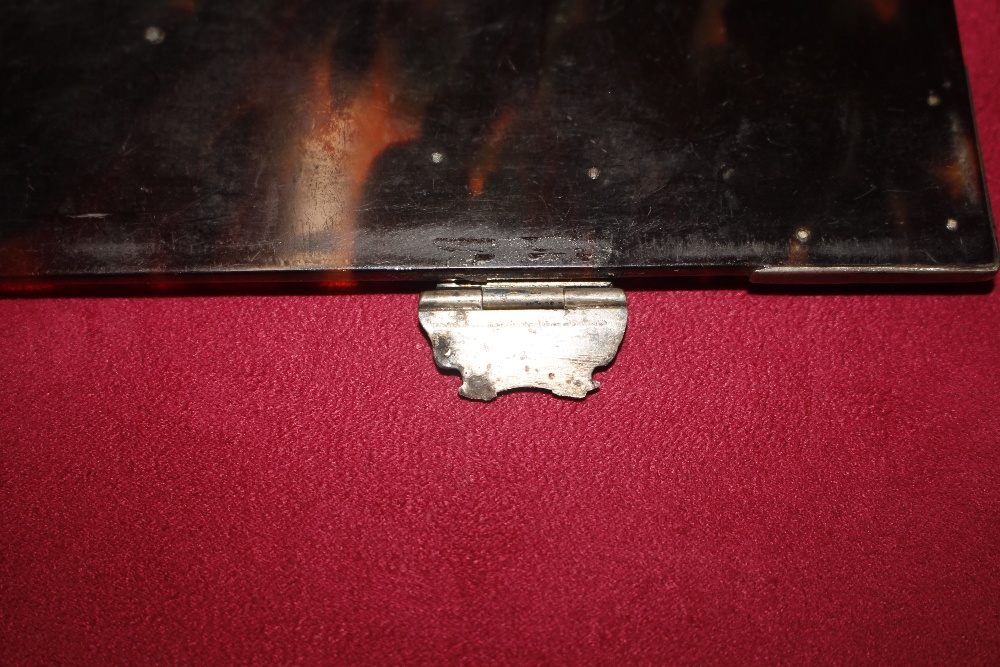 A 19th Century tortoiseshell and white metal mounted trinket casket,having pierced foliate and - Image 15 of 19