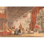 """A coloured print,of """"The Grand Bazaar Istanbul"""""""
