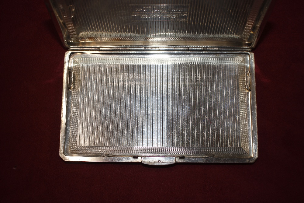 """A silver cigarette case, with inscription to """"Mr H - Image 4 of 7"""