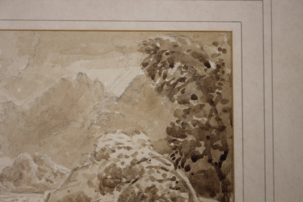 Attributedto J Curstall 1767-1847,study of a waterfall, unsigned pencil and watercolour, 19cm x - Image 3 of 9