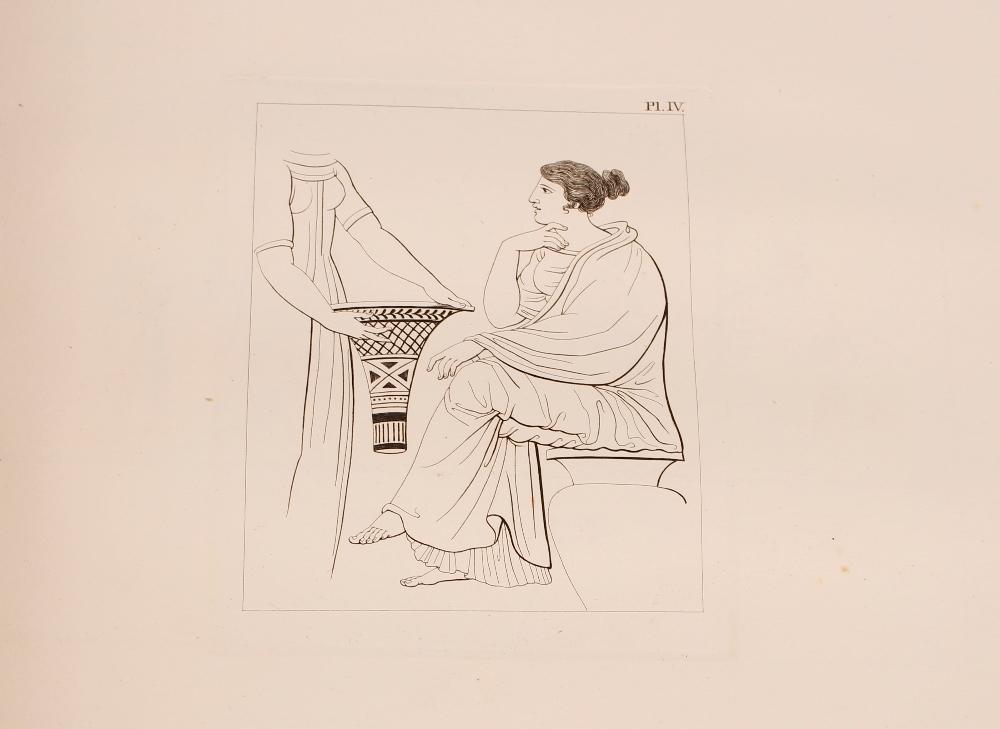 """A large folio bound volume, """"Peintures de Vases Antiques"""", Paris 1808 - Image 3 of 3"""