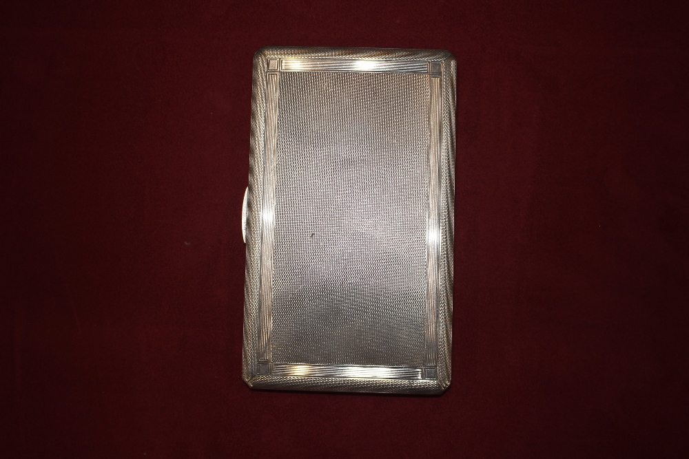 """A silver cigarette case, with inscription to """"Mr H - Image 3 of 7"""