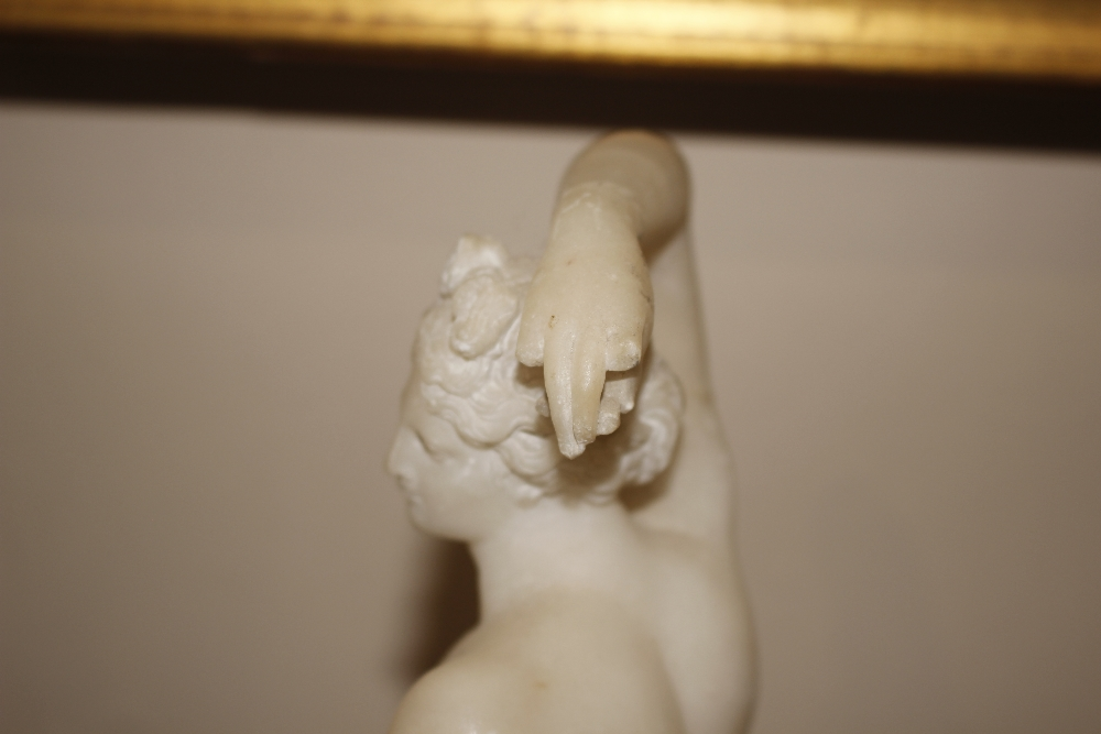 A pair of 19th Century alabaster figures,depicting athletes, 35cm high - Image 13 of 18