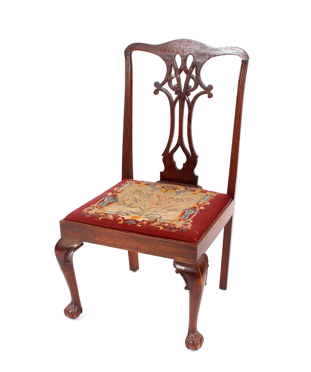 A 19th Century mahogany Chippendale style side cha