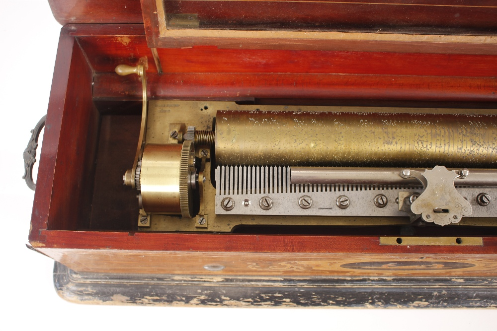 A Nichol Freres 12 air mandoline Expression music box, Damme 3115 Piece No.46008, in rosewood and - Image 5 of 14