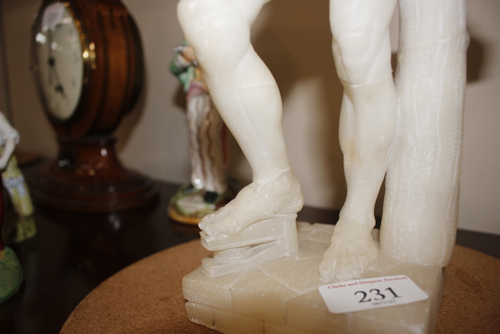 A pair of 19th Century alabaster figures,depicting athletes, 35cm high - Image 4 of 18