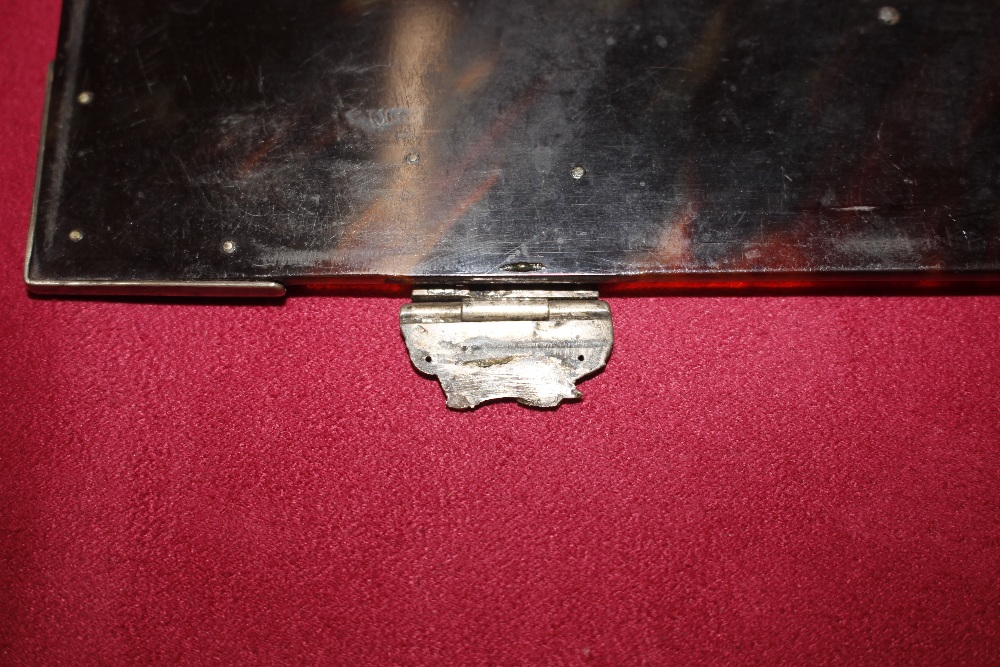A 19th Century tortoiseshell and white metal mounted trinket casket,having pierced foliate and - Image 16 of 19