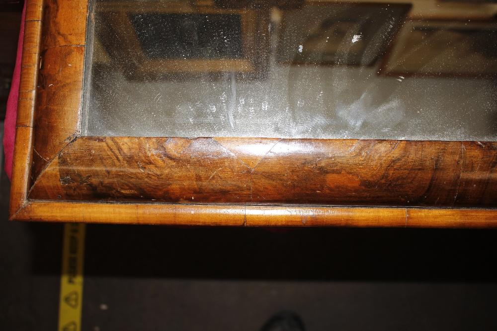 An antiquewalnut cushion framed wall mirror,55cm x 51cm - Image 3 of 9