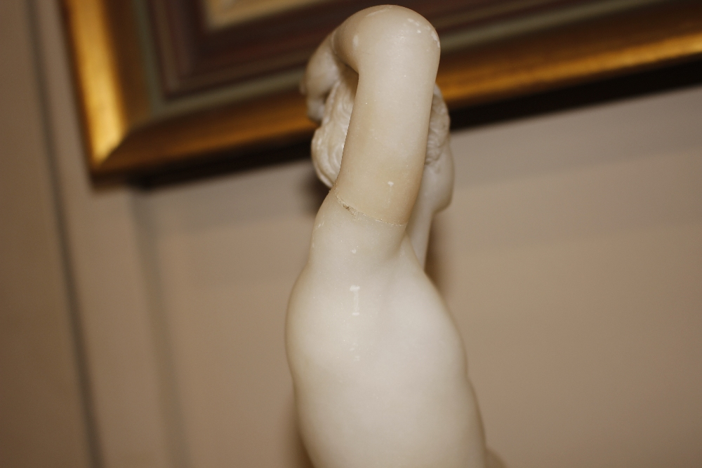 A pair of 19th Century alabaster figures,depicting athletes, 35cm high - Image 15 of 18