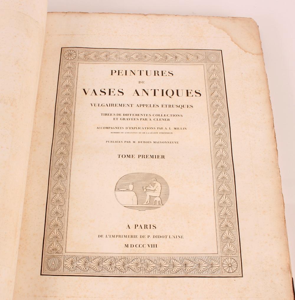 """A large folio bound volume, """"Peintures de Vases Antiques"""", Paris 1808 - Image 2 of 3"""