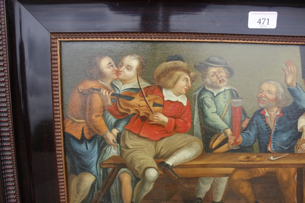 Dutch school late 17th / early 18th Century scene,of a bawdy tavern interior, unsigned oil on - Image 7 of 9