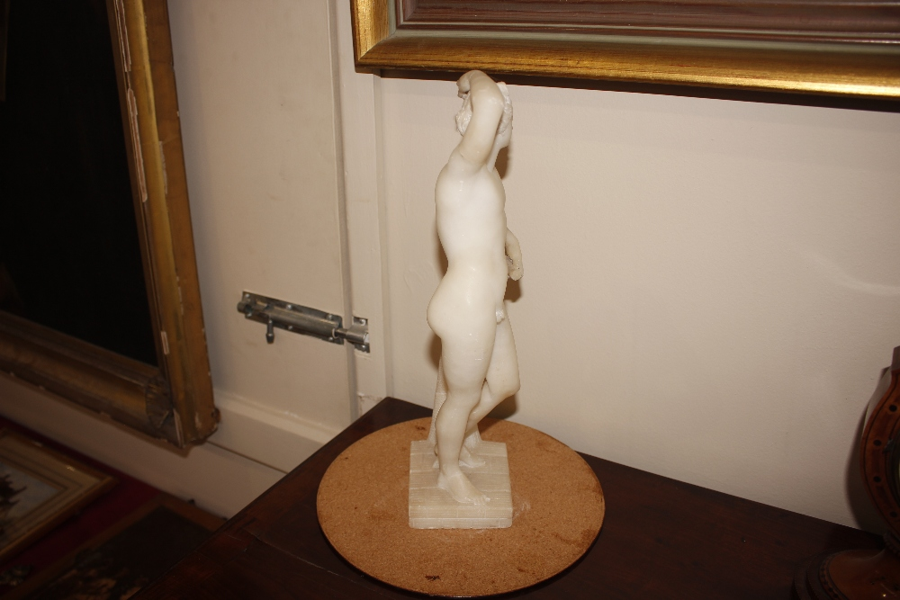 A pair of 19th Century alabaster figures,depicting athletes, 35cm high - Image 16 of 18
