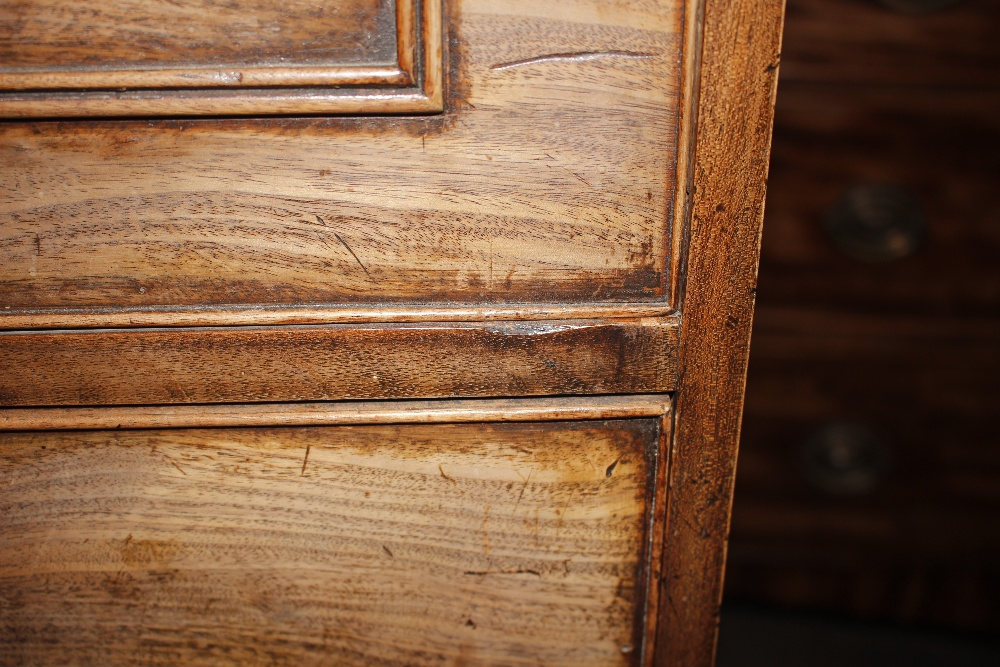 A 19th Century mahogany and cross banded secretairechest,the writing drawer with interior - Image 10 of 10