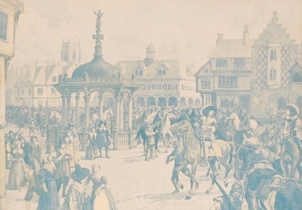 """A collection of Ipswich prints,to include after Fred Russell, """"The Ancient House"""", three small - Image 8 of 8"""