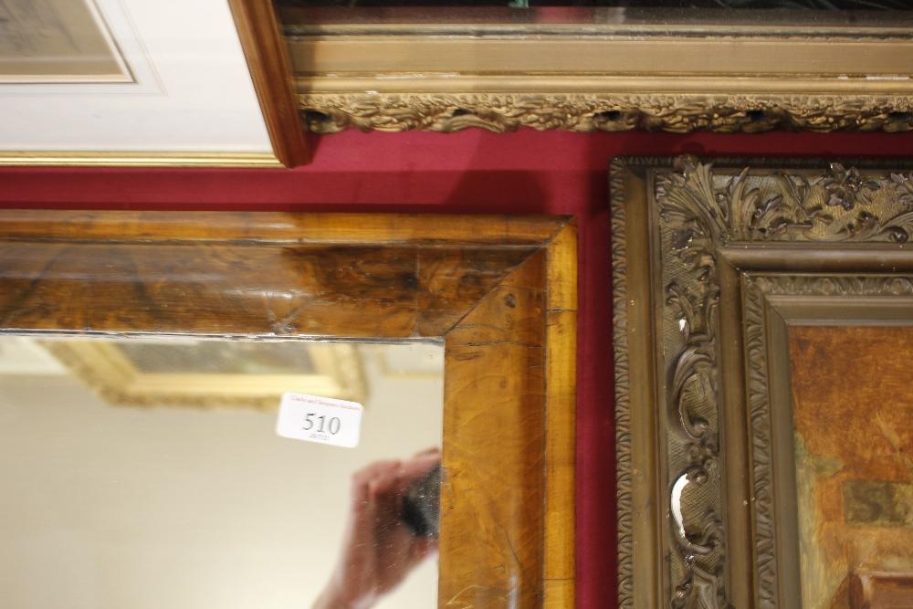 An antiquewalnut cushion framed wall mirror,55cm x 51cm - Image 7 of 9