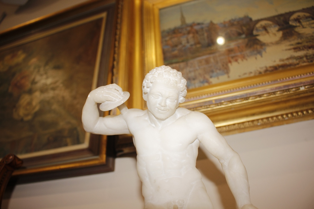 A pair of 19th Century alabaster figures,depicting athletes, 35cm high - Image 5 of 18
