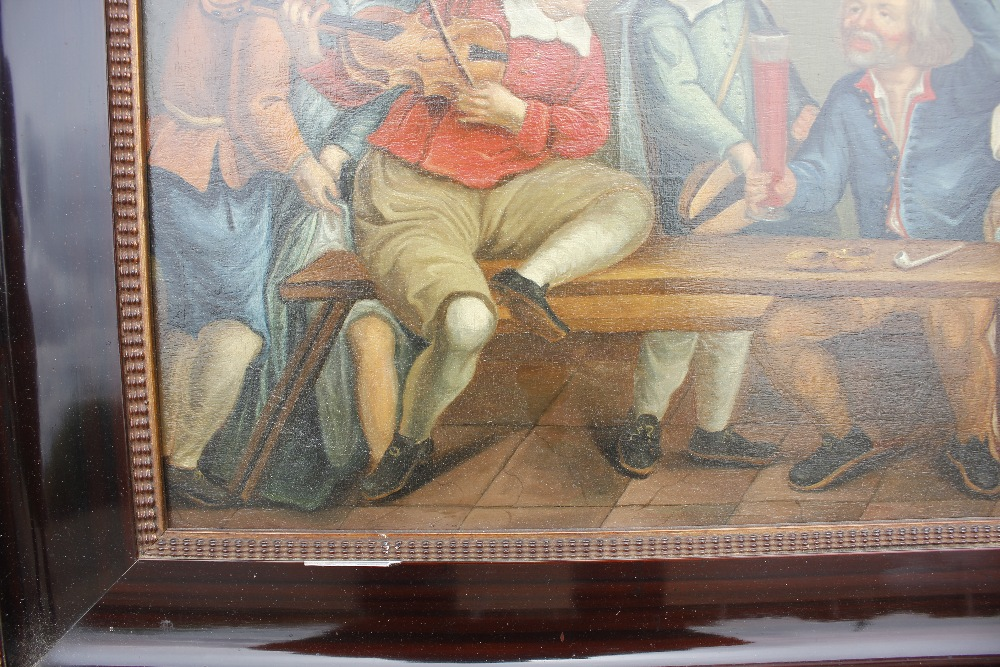 Dutch school late 17th / early 18th Century scene,of a bawdy tavern interior, unsigned oil on - Image 6 of 9