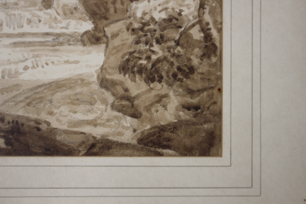 Attributedto J Curstall 1767-1847,study of a waterfall, unsigned pencil and watercolour, 19cm x - Image 4 of 9