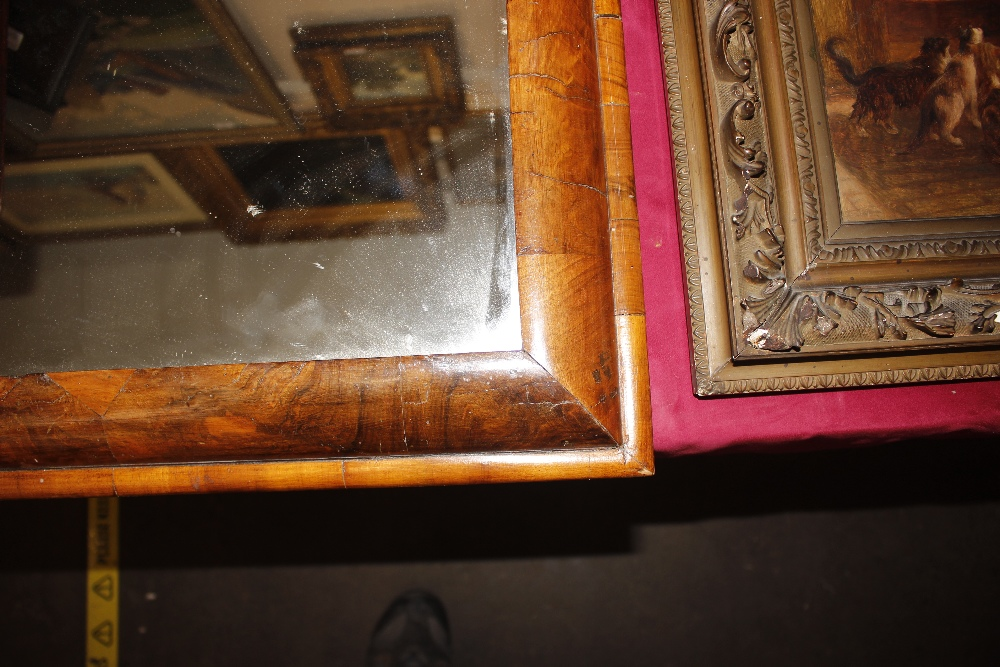 An antiquewalnut cushion framed wall mirror,55cm x 51cm - Image 2 of 9
