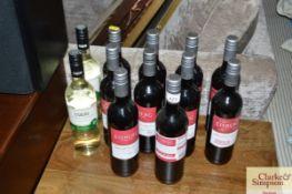 Ten bottles of Eisberg cabernet sauvignon alcohol