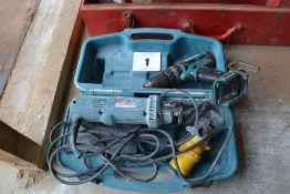 Makita 3706K 110v cut out tool & 18v drill (bare unit).