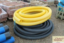 Quantity of perferated drainage pipe.