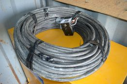 Large quantity of armoured cable.