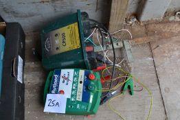 2x 12v electric fence units. NO VAT