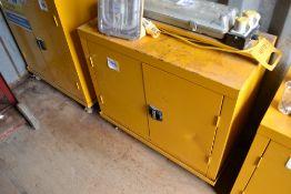 Storage unit on castors.