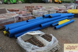 Quantity of 6in double walled drainage pipes.