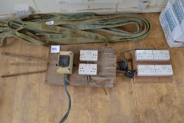 Earth stakes & distribution board.