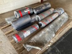 11 rolls/ part rolls of lead. To include 2x 1m, 3x