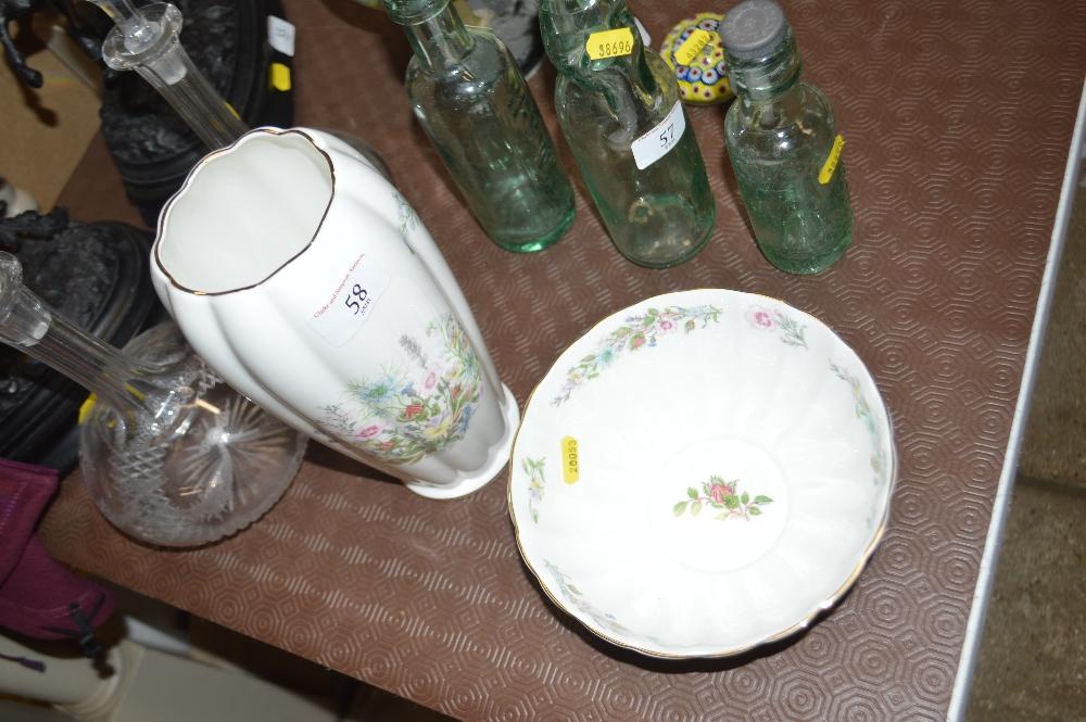 "An Aynsley ""Wild Tudor"" pattern bowl and vase"
