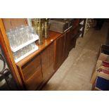 A teak bookcase