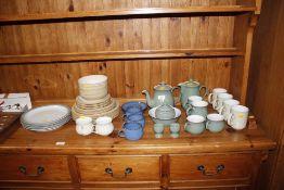 A quantity of Denby tea and dinnerware etc