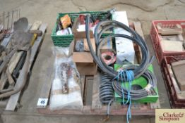 Pallet of various trailer and vehicle spares.