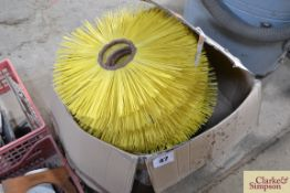Quantity of steel and nylon brushes for yard brush.