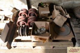 A quantity of unused Caterpillar D2 Spares. To include idlers, clutch plates etc.NO VAT